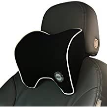Car Neck Pillow With Memory Foam Neck Support For Car Seat Headrest (Black)