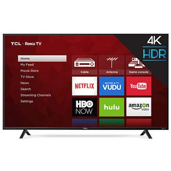 TCL 55″ Class 55S403 (54.6″ Diag.) 4K Ultra HD Roku LED LCD TV