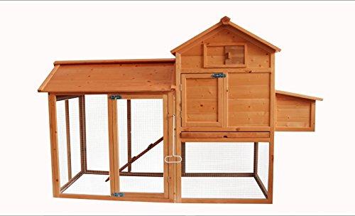 MCombo 0310 Backyard Deluxe Wooden Chicken Rabbit Poultry