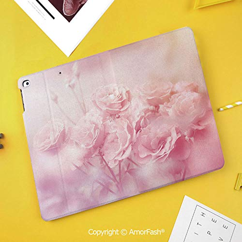 Case for Samsung Galaxy Tab S4 10.5 T830 T835 T837 Kids Safe Shockproof,Rose,Dreamlike Spring Nature Theme Blurry View Feminine Bouquets Gardening Bedding Plants Decorative,Pale Pink