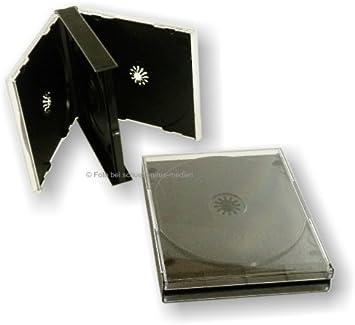 Jewel-Caja para 4 CDs - negro de 4 Multi-Box jewel case: Amazon.es: Electrónica