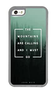 Apple Iphone 5C Case,WENJORS Cute The Mountains are Calling Soft Case Protective Shell Cell Phone Cover For Apple Iphone 5C - TPU Transparent