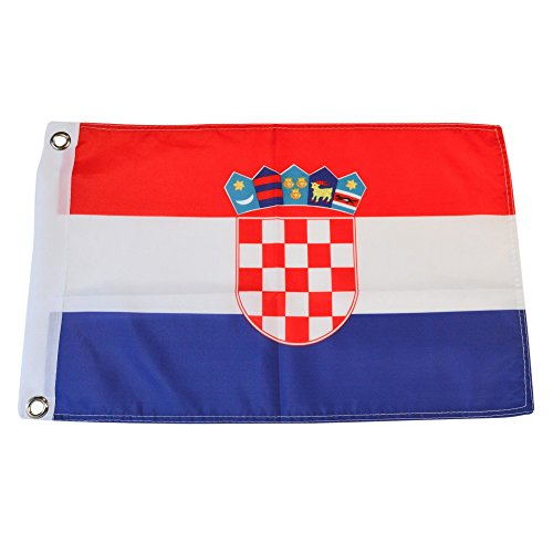 - Croatia Polyester Country Flags Desk Outside Waving Parade Croatian (12 Inch x 18 Inch Grommet Flag)