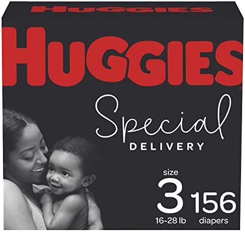 Hypoallergenic Baby Diapers Size 3, 156 Ct, Huggies Special Delivery