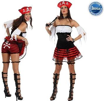 Atosa - Disfraz de pirata sexy para mujer, talla 38-40 (10231 ...