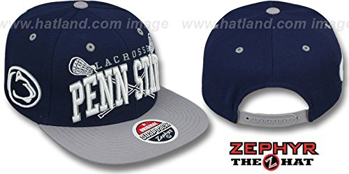 Penn State LACROSSE SUPER-ARCH SNAPBACK Navy-Grey Hats by Zephyr
