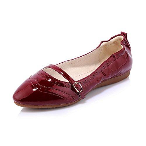 Para Rojo Vino De Vestir Adee Zapatos Mujer xTn7wAYY8O