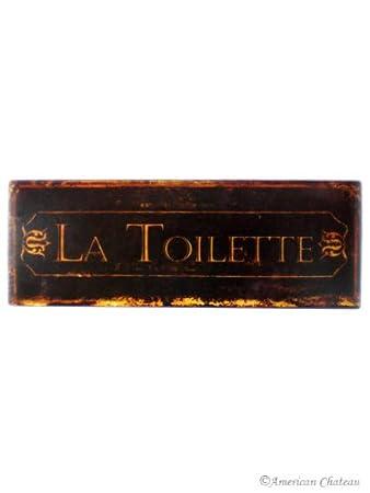 amazon com iron metal tin signs bath sign bathroom la toilette