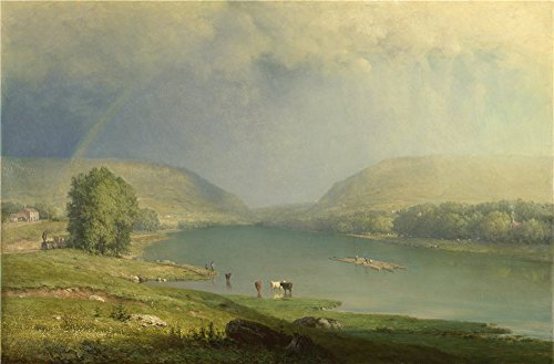 The Polyster Canvas Of Oil Painting 'George Inness The Delaware Water Gap ' ,size: 18 X 27 Inch / 46 X 70 Cm ,this Cheap But Art Decorative Art Decorative Canvas Prints Is Fit For Home Theater Gallery Art And Home Decoration And Gifts