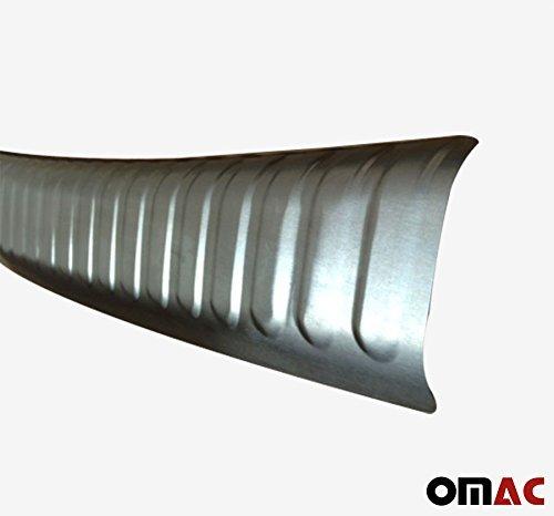 OMAC 7514093T Chrom Ladekantenschutz Geb/ürstet aus Edelstahl Mit Abkantung