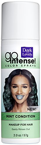 Temporary Hair Color by SoftSheen-Carson Dark and Lovely, Go Intense Color Sprays, Hair Color Spray for Instant and Ultra-vibrant Color even on Dark Hair, For Natural and Relaxed Hair, Mint Condition (Dark And Lovely Go Intense Color Spray)