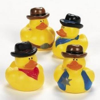 One Dozen (12) Cowboy Rubber Duck Party - Duck Ducky Favors Party
