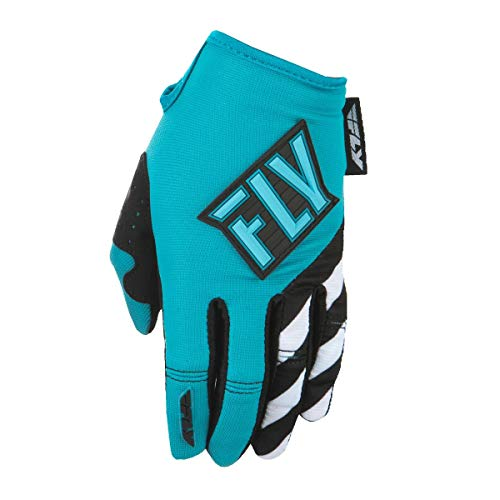 Fly Racing Men's Kinetic Gloves Blue/Teal Youth Medium