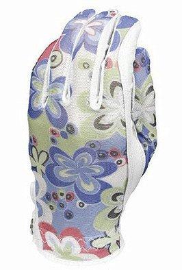 Golf Gloves Evertan (Evertan Women's Tan Through Golf Glove: Bed of Daisey - Medium Left Hand)