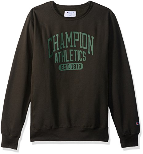 - Champion Men's Big and Tall Fleece Ls Crew with Screen Print, Grey Scarf, 4X