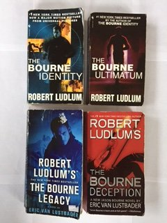 Robert Ludlum: Bourne Series (4 Book Set) The Bourne Identity (#1) -- The Bourne Ultimatum (#3) -- The Bourne Legacy (#4) -- The Bourne Deception (#7), By Robert Ludlum and Eric Van Lustbader