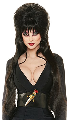 Rubie's Costume Deluxe Elvira Wig, Black, One Size]()