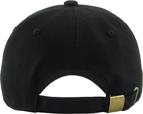 926fd19a18 Polo Style Low Profile KB-Low BLK Classic Cotton Dad Hat Adjustable Plain  Cap. Polo Style Low Profile ...