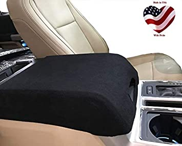 Console Armrest Leather Synthetic Cover for Ford F150 Bench Seat 15-19 Gray