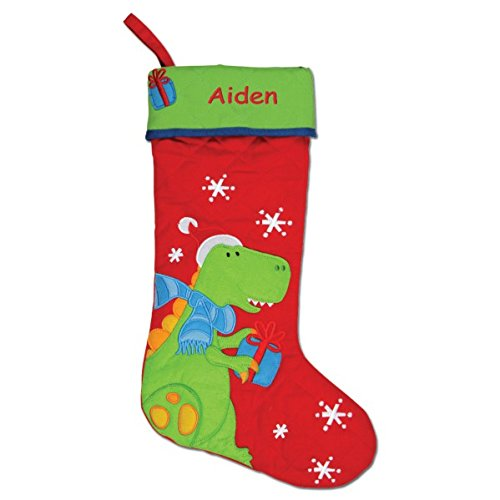(DIBSIES Personalization Station Personalized Quilted Christmas Stocking (Dinosaur))