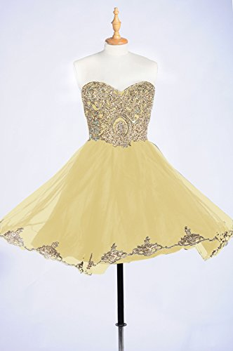 Affordable Dresses Dress Dresses Homecoming Lace Prom Short Sparkly Prom Yellow 99Gown Beautiful 4UKqAwZaS