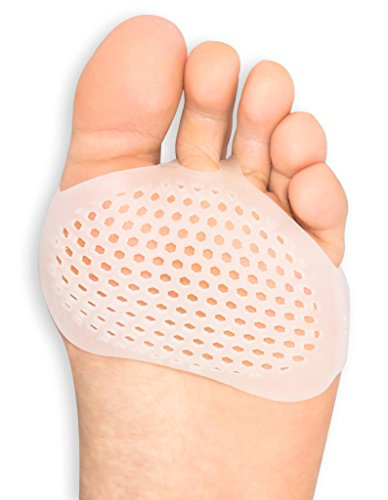 Ball of Foot Cushions Metatarsal Pads for Woman - Soft Gel Ball of Foot Pads Shoe Inserts - Mortons Neuroma Callus Metatarsal Foot Pain Relief Bunion Forefoot Cushioning