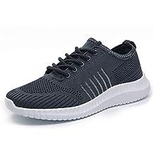 Idea Frames Men's Knit Sport Walking Shoes Lightweight Comfy Sneaker for Running and Jogging