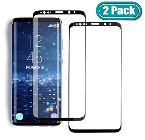 MSLAN [2 Pack] Samsung Galaxy S8 Screen Protector,3D Curved Tempered [Anti-Bubble][9H Hardness][HD Clear][Anti-Scratch] Compatible Samsung Galaxy S8