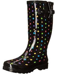 Women's Waterproof Printed Tall Rain Boot
