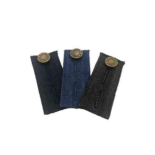 Extended Button - KingBra 3PCS Pants Extended Buckle Combination,Adjustable Denim Waist Extenders,Denim Waist Extender Button,Pant Waist Extenders for Dress Pants, Jeans,Skirt,Pants