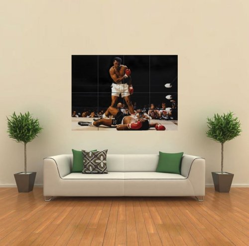 amazoncom muhammad ali vs sonny liston giant wall poster g379 posters prints