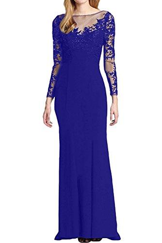 La Elegant Braut Abendkleider Royal Spitze Lang mia Brautmutterkleider Blau Trumpet Etuikleider Ballkleider Festlichkleider Damen Rot rAWZrnB