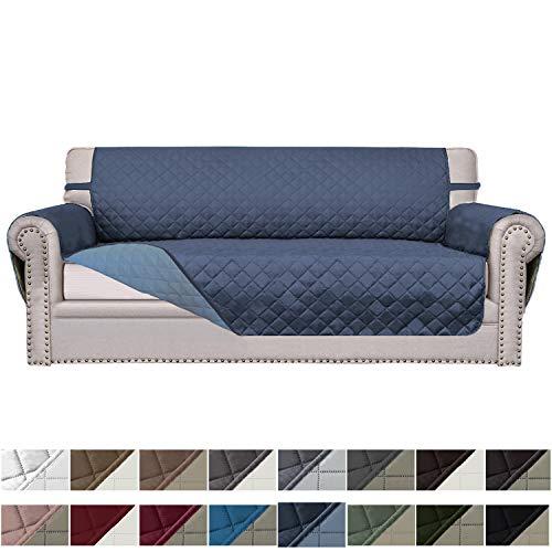 Easy-Going Sofa Slipcover Reversible Sofa Cover Furniture Protector Couch Cover Elastic Straps PetsKidsChildrenDogCat(Oversized Sofa,Dark Blue/Light Blue) (Sofa Your Make Sectional Own)