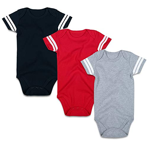 RomperinBox Unisex Solid Multicolor Infant Baby Bodysuits Packs