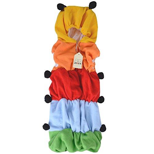 JISEN Baby Kids Costume Outfit Set Caterpillar Sleeping Bag Romper Newborn Baby Photography Props Sleepwear Blanket Swaddle Wrap sack 0-24 months Photo (Caterpillar Costume)