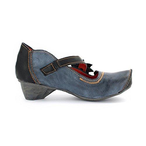 TMA SEELENlook Damen-Schuhe >                     Halbschuhe, Pumps, Echt-Leder, 4 Farben, Größen 36-42/43 Anthrazit