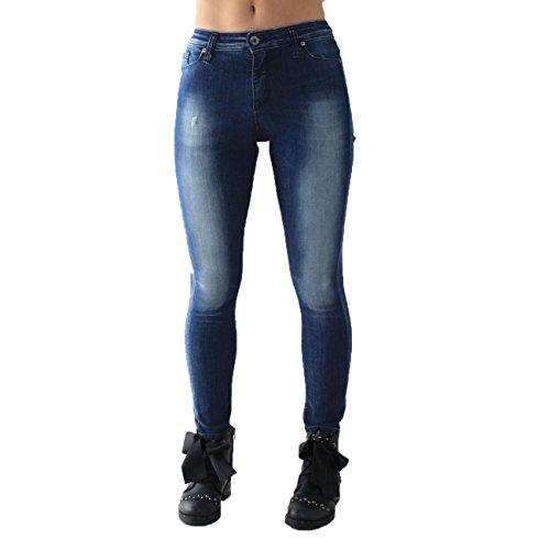 Para Mujer blu Azul Vaqueros Please Denim SBw1T5z5q