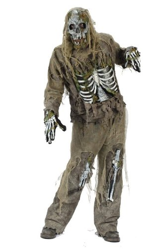 Skeleton Zombie Adult Mens Costumes (Skeleton Zombie Costume - Standard - Chest Size 33-45)