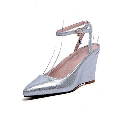 Adee - Sandalias de vestir para mujer plata