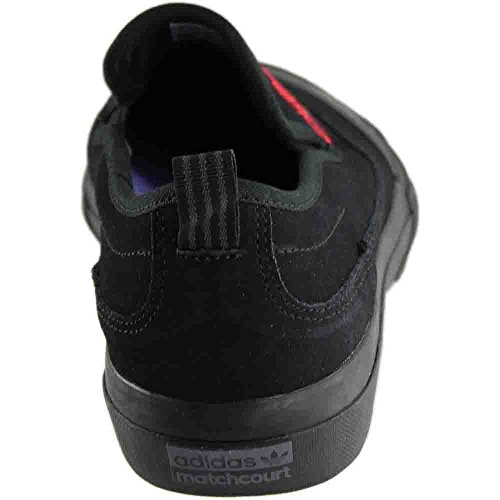 Adidas Matchcourt Slip-on (nucleo Nero / Scarlatto / Porpora Chiaro) Mens Scarpe Skate Nucleo Nero / Scarlatto / Luce Viola