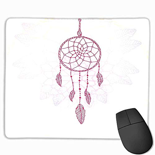 Hippie Funny Mouse pad Ethnic Style Dream Catcher Concept Artwork Asian Spiritual Vintage Custom Mouse pad 11.8
