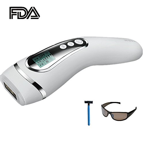 IPL Hair Removal Laser Hair Removal Permanent Hair Removal Device 400000 flashes Hair Removal System Face&Body Painless for Home Use FDA Cleared