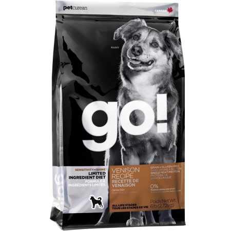 Petcurean Go! Sensitivity + Shine Venison Recipe Dog Food - 6lb