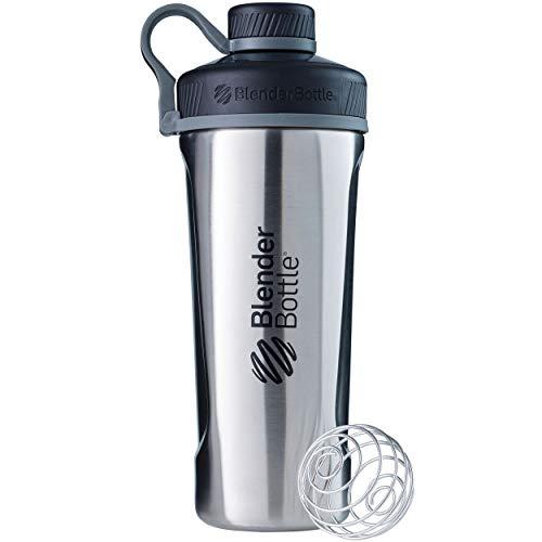 (BlenderBottle Radian Insulated Stainless Steel Shaker Bottle, Natural/Black, 26-Ounce (Renewed))