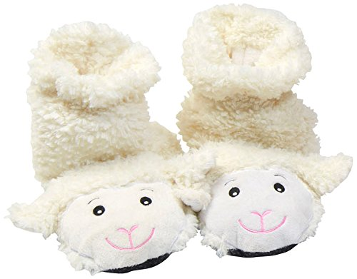 Spa Comforts Womens Cozy Lamb Slippers, White