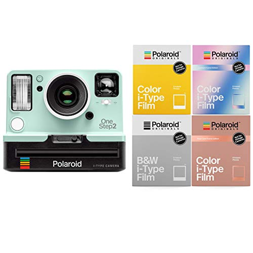 neStep2 Viewfinder i-Type Instant Camera (Mint Edition) i-Type Holiday Bundle ()