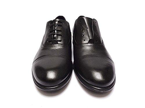 Antica Cuoieria scarpe classiche da uomo in pelle Nero fondo in gomma leggera, num. 40