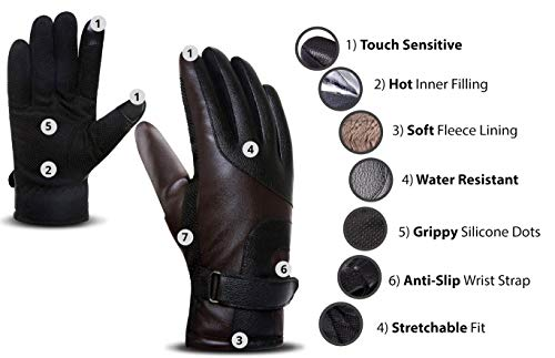 ACTIMAX Glove for Winter (Brown)