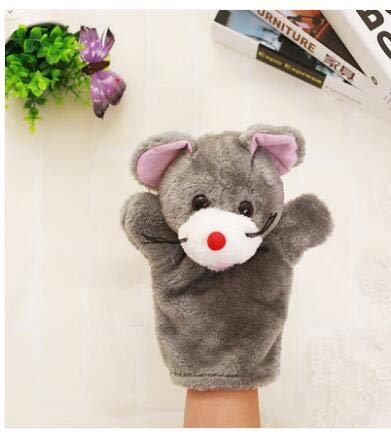 EOFK 1Pc 28Cm Plush Hand Puppets Bear Dog Lion Frog Mouse Duck Koala Elephant Zebra Pacify Story Role Stuffed Toy Baby Boy Must Haves Unique Gifts The Favourite Anime Superhero ()