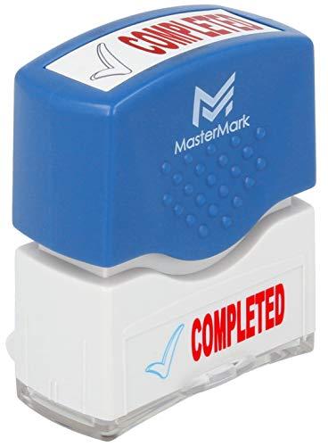 (Completed Stamp - MasterMark Premium 2-Color Pre-Inked Office Stamp)